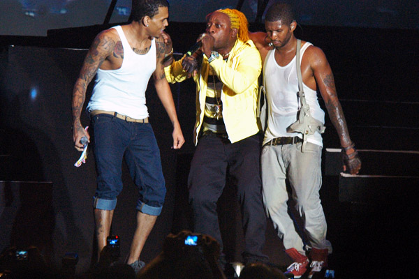 chris brown usher elephant man