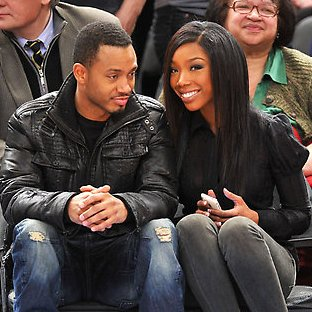 Brandy & Terrence J Courtside