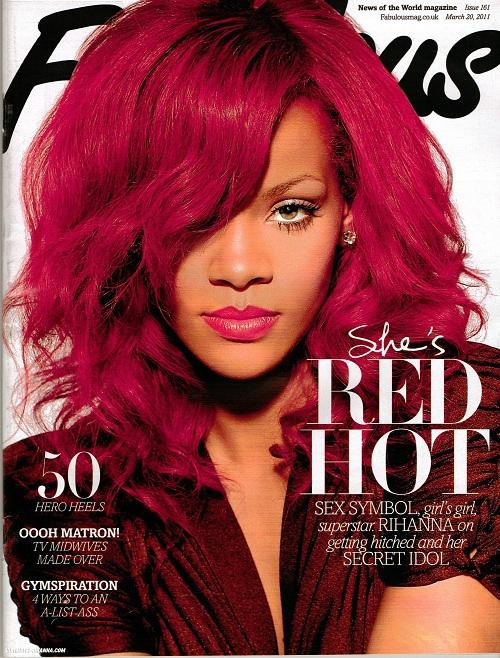 Rihanna Covers Fabulous Magazine, Shun Chris Brown