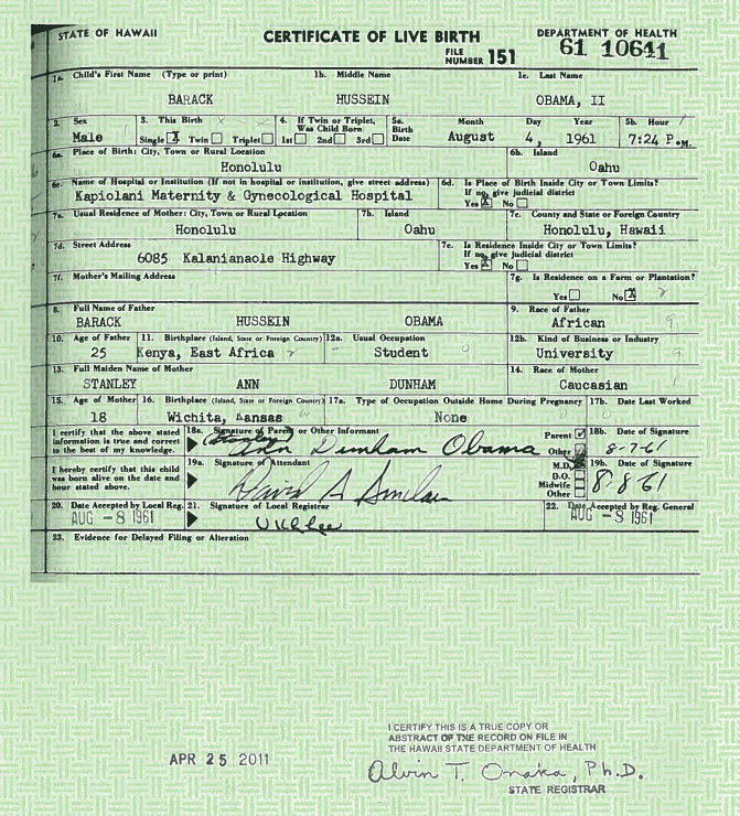 President Obama Releases Birth Certificate [Photo] - Urban Islandz