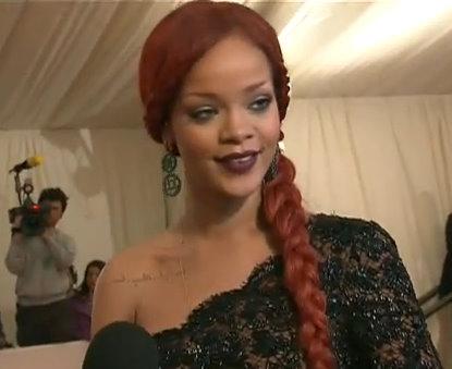 Rihanna Talks Alexander McQueen, Gaga At MET Gala [Video]