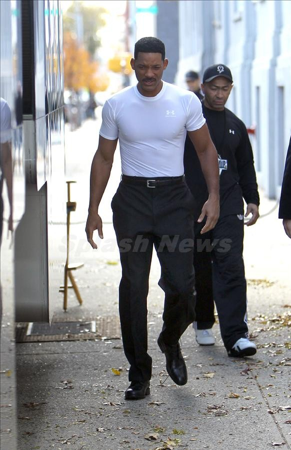 Will Smith on set Men in black 3