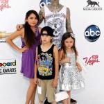 Travis Barket and Kids