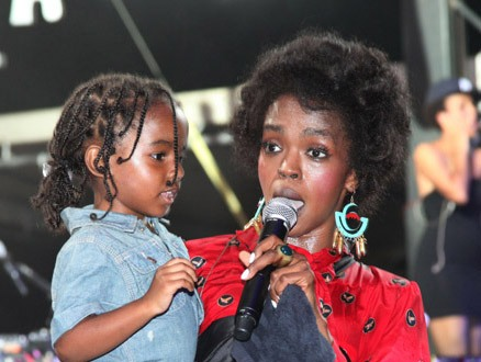 LAURYN HILL AND DAUGHTER