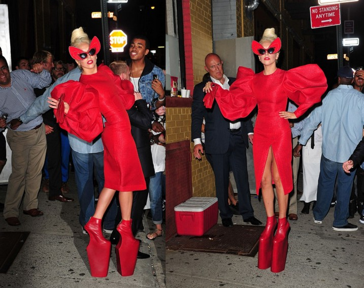 Where Lady Gaga Going In These 24 Inches Shoe? [Photo]