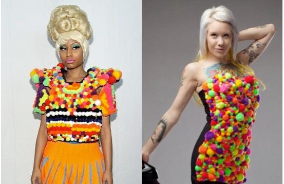 "Nicki Minaj Denies Stealing Puff Ball Design, ""That Designer Is LYING! I Don't Even Know Her"""