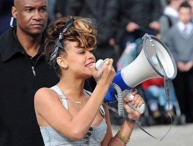 """Rihanna Take The Streets On Day 2 """"We Found Love"""" Video Shoot [Photo]"""