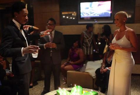Wiz Khalifa And Amber Rose At Vegas Birthday Bash [Video]