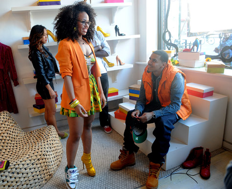 """Elle Varner Brings J. Cole On Set """"Only Wanna Give It to You"""" Video Shoot [Photo]"""