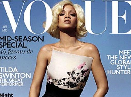 Rihanna Covers 'British Vogue' Magazine [Photo]