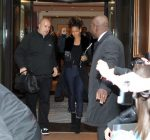 rihanna leaving hotel