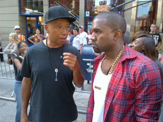 "Kanye West & Russell Simmons Joins ""Occupy Wall Street"" Demonstrators [Photo]"