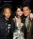 JADEN SMITH, SELENA GOMEZ, AND BRUNO MARS