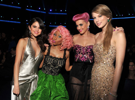 SELENA GOMEZ, NICKI MINAJ, KATY PERRY, AND TAYLOR SWIFT