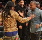 Lil Wayne and Kanye West Lakers