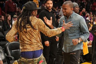 Lil Wayne Hit Lakers Game With Girlfriend And Kanye West [Photo]