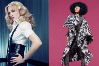 Nicki Minaj And Madonna Lock Lips On Set