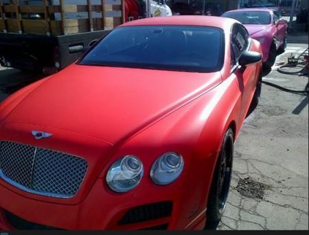 SB Red Bentley continental GT