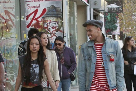 Chris Brown And Girlfriend Karrueche Tran Strutted Down Melrose [Photo]