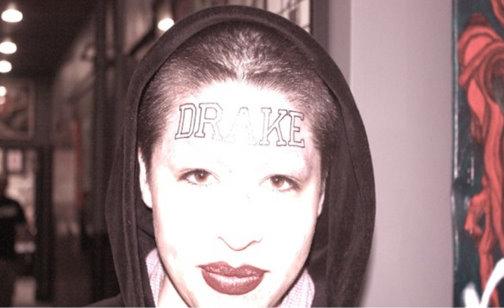 Girl Tattoos Drake's Name On Her Forehead [Photo]