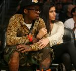 lil wayne and dhea lakers game