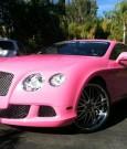 nicki minaj pink bentley coupe