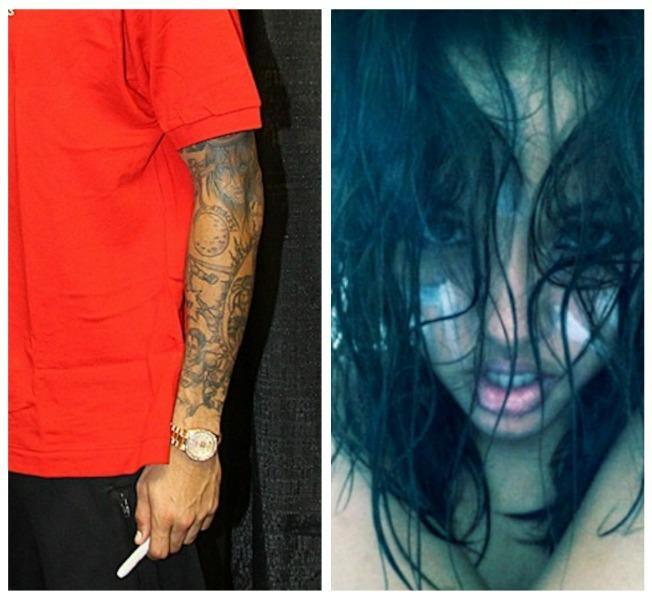 Chris Brown Karrueche Tran Tattoo pic