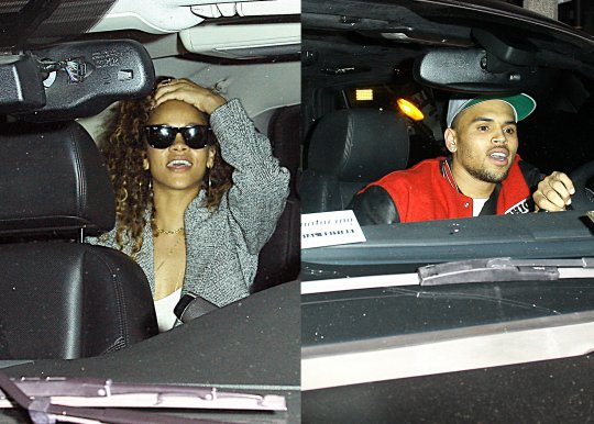 Chris Brown And Rihanna Caught Leaving The Club [Photo]