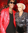 Wiz Khalifa and Amber Rose ring in 2012