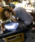 rihanna getting tattoo