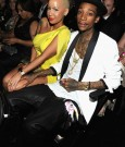 AMBER ROSE AND WIZ KHALIFA 2012 grammys