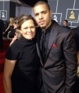 J Cole and mother