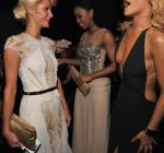 PARIS HILTON KELLY ROWLAND AND RIHANNA 2012 grammys