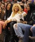 Rihanna Melissa courtside 1