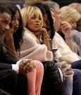 Rihanna Melissa courtside