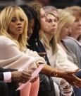 Rihanna courtside