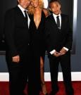 Rihanna dad ronald and brother rajad 2012 grammy
