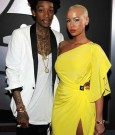 WIZ KHALIFA AND AMBER ROSE 2012 grammys