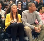 beyonce and jay-z courtside