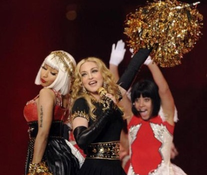Madonna, Nicki Minaj, M.I.A., Cee Lo Green Performs Super Bowel Halftime [Video]