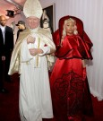 nicki minaj arrive grammy pope