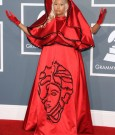 nicki minaj red gown grammys
