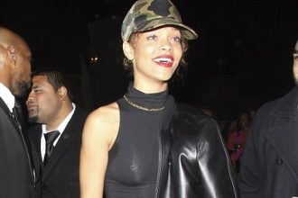 Rihanna Hit The Club In Skin Tight Outfit [Photo]