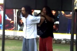 Damian Marley Put His Dreadlocks In Backpack To Play Soccer [Video]