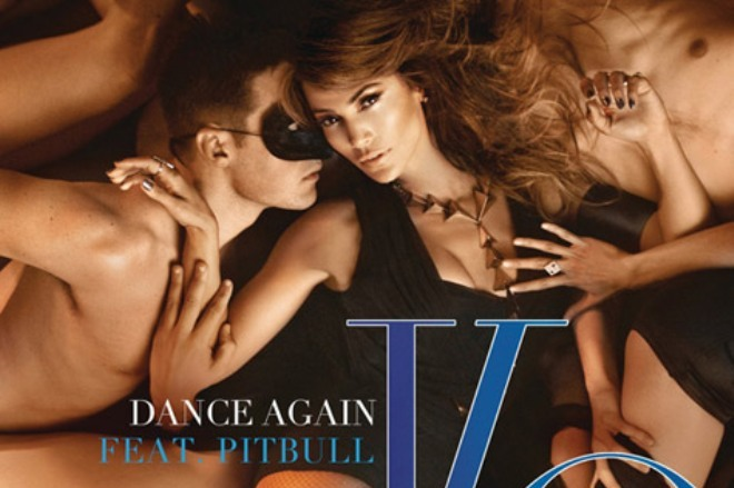 jennifer lopez pitbull dance again artwork
