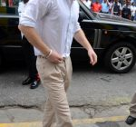 Prince Harry wearing a pair of blue suede shoes shows off his dance moves as  he visits the Rise Life Youth Project in Kingston, Jamaica and meets Rita Marley widow of Reggae legend Bob Marley