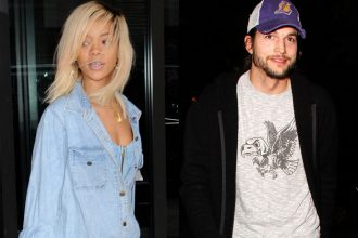 Rihanna Busted Creeping With Ashton Kutcher [Photo]