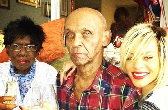 rihanna and her grand parents 2