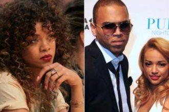 DRAMA: Karrueche Tran Angry After Chris Brown And Rihanna Kiss At VMA