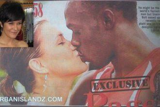 Usain Bolt Lock Lips With Slovakian Girlfriend Belle Lubica [Photo]